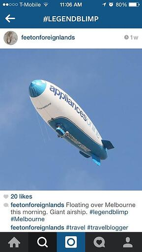legend blimp instagram