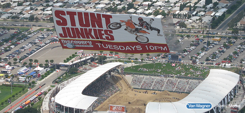 motocross supercross aerial advertising