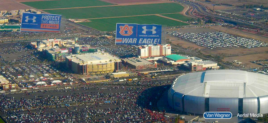 ncaa football aerial advertising