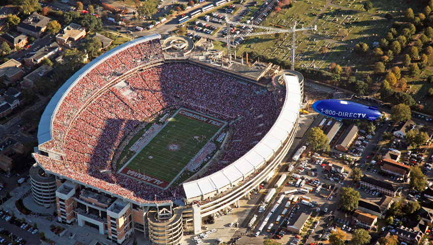 Aerial Advertising Alabama Football game