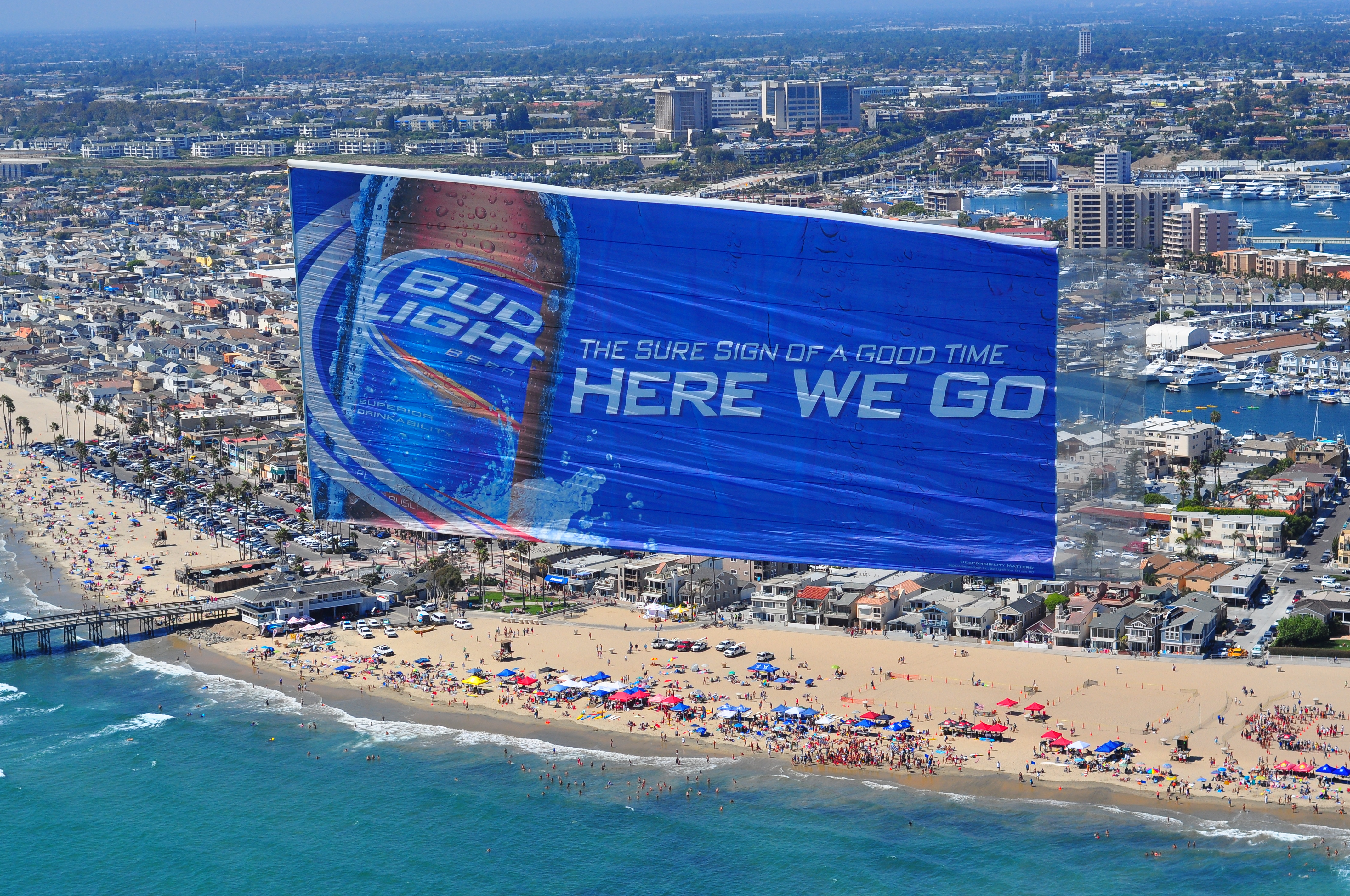 bud light aerial ad