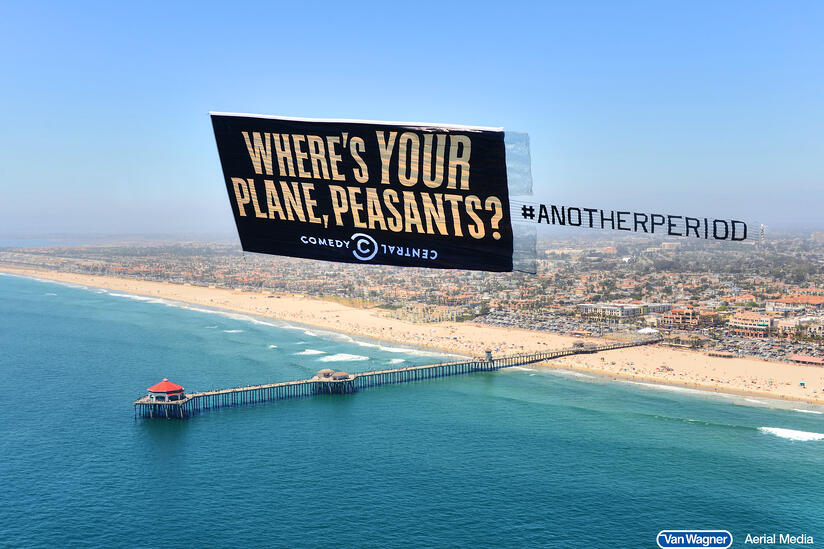 comedy central aerial banner